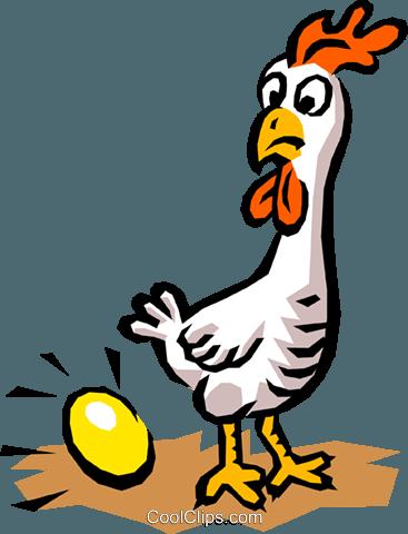 367x480 Chicken Amp Egg Royalty Free Vector Clip Art Illustration Anim0741