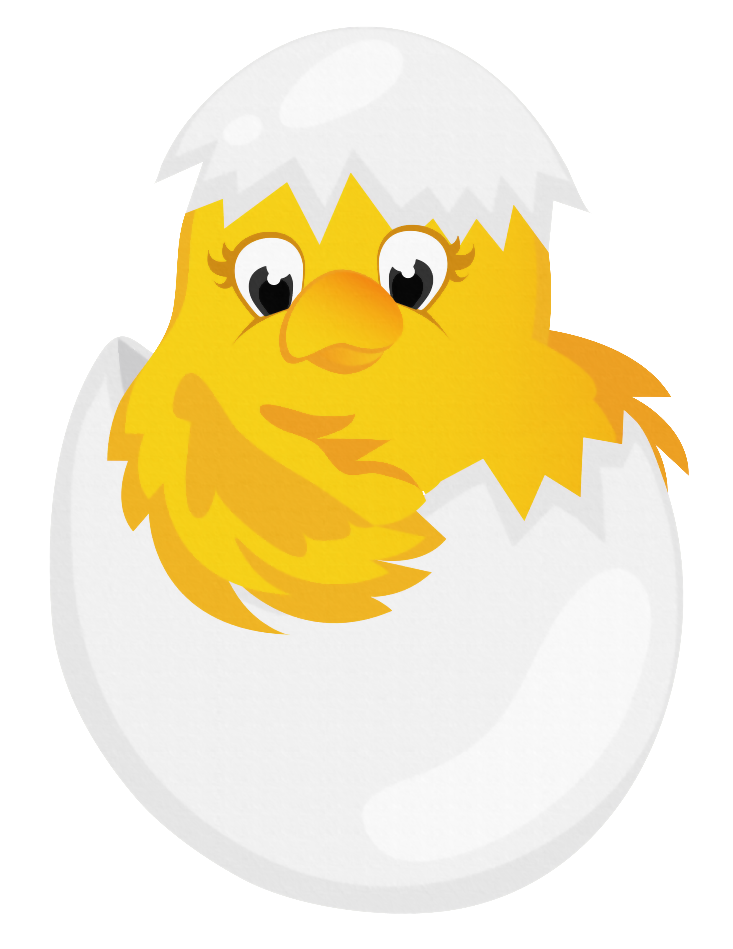 2484x3216 Easter Chicken In Egg Transparent Png Clipartu200b Gallery
