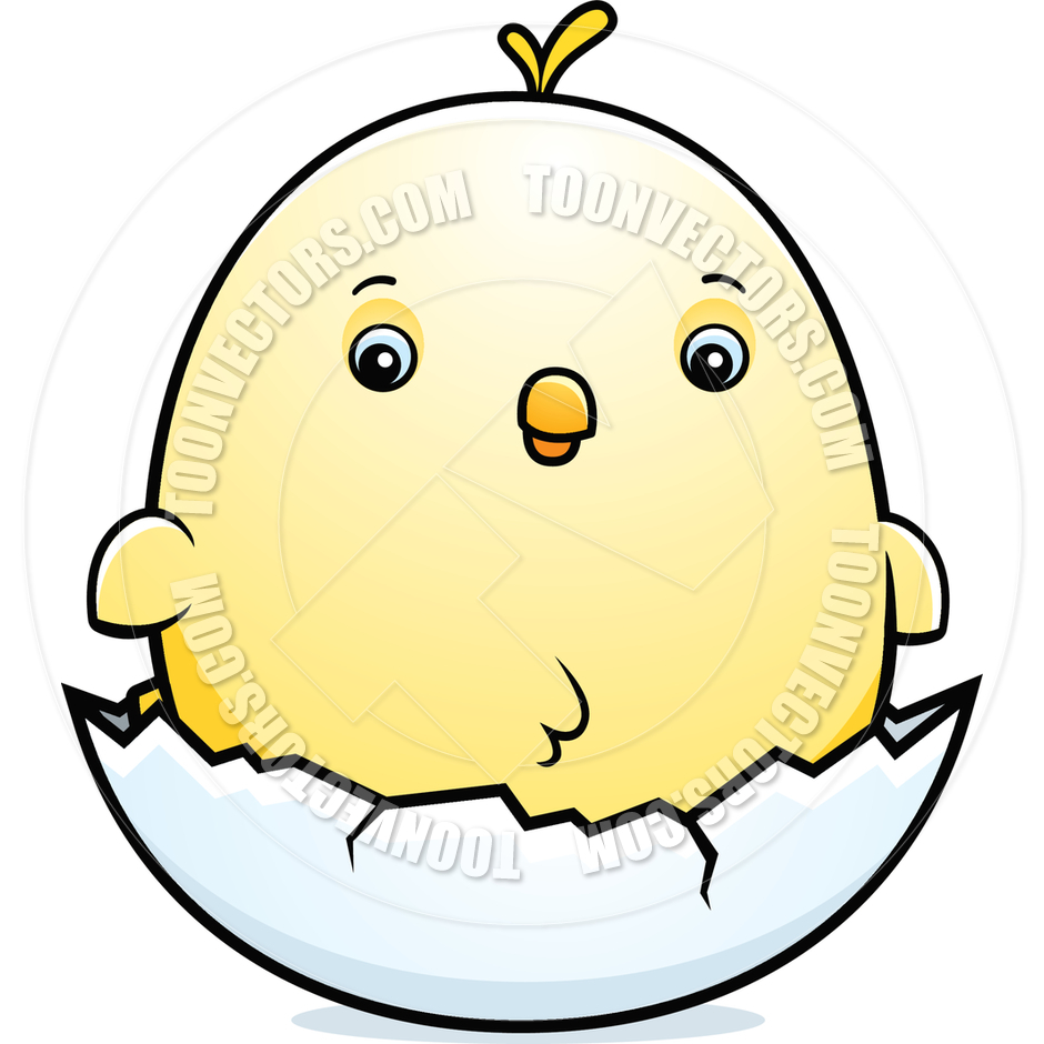 940x940 Cartoon Baby Chicken Egg By Cory Thoman Toon Vectors Eps