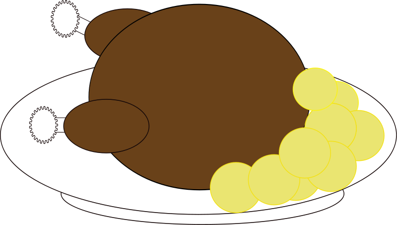 800x453 Thanksgiving Chicken Leg Clipart