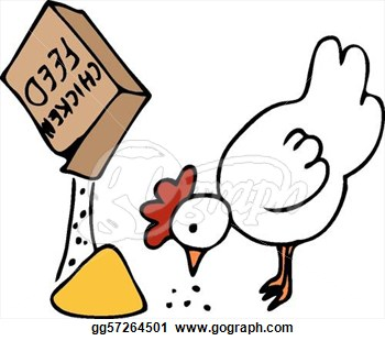 350x310 Chicken Feed Clipart