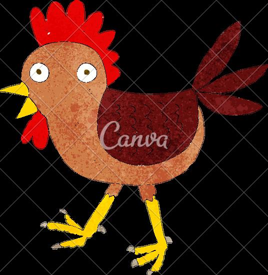 536x550 Funny Cartoon Chicken