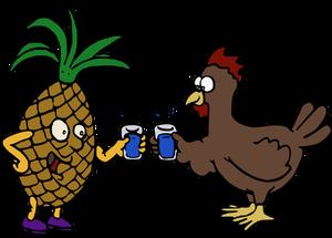 300x215 7023 Cartoon Chicken Wings Clip Art Public Domain Vectors
