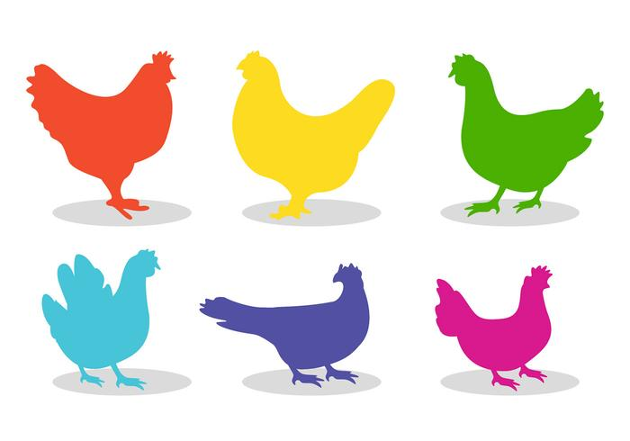 700x490 Set Of Chicken Silhouette Vectors