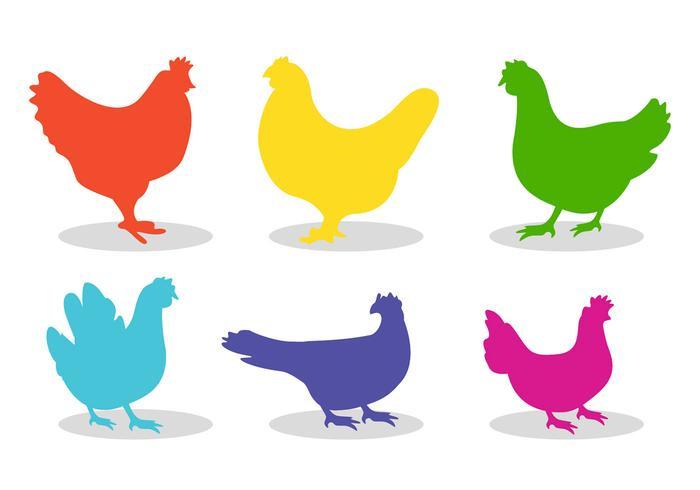 700x490 Set Of Chicken Silhouette Vectors