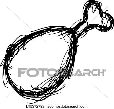 450x428 Clipart Of Grunge Chicken Leg K15372793