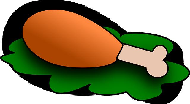 640x350 Image Of Chicken Leg Clipart