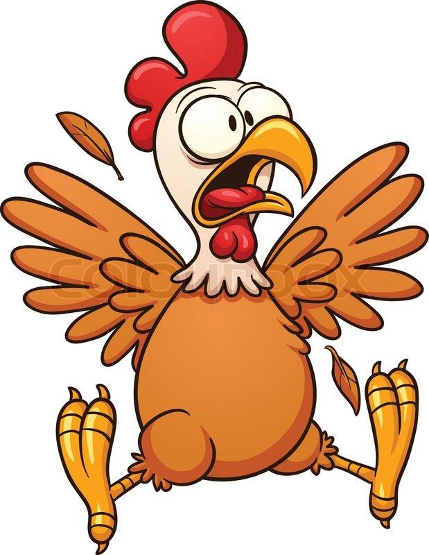 619x800 Chicken Wing Crazy Checken Clipart