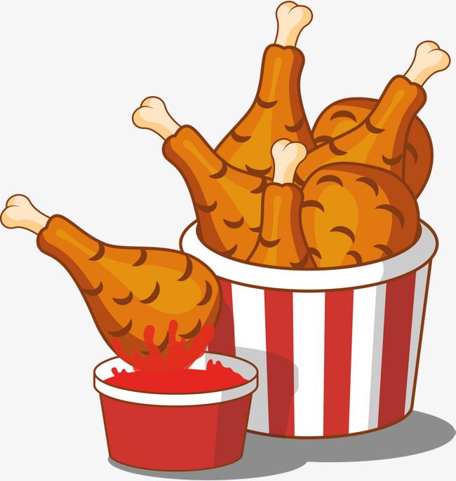 650x686 Whole Family Bucket Bucket, Cartoon Hand Painted, Fried Chicken