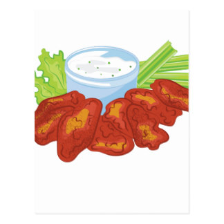 324x324 Chicken Wings Postcards Zazzle