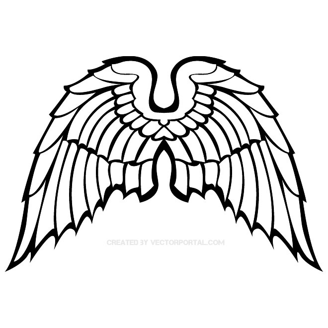660x660 Wings Clipart Vector