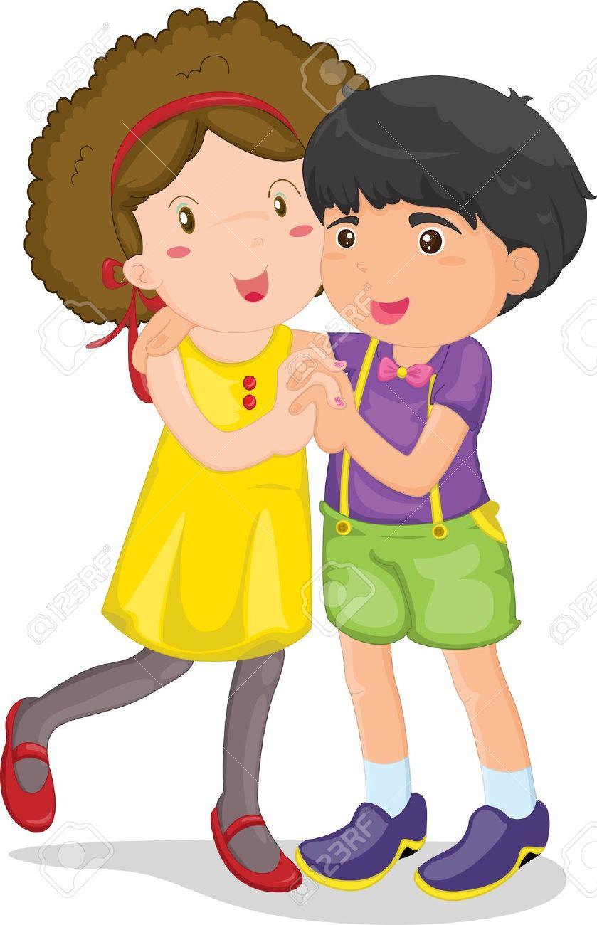 839x1300 Hula Dancing Boy And Girl Clipart