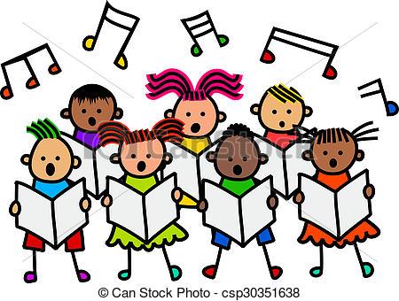 450x340 Children Singing Clipart