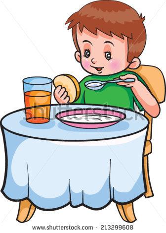 336x470 Breakfast Clipart Boy Eating