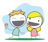 170x148 Clip Art Of Kid Eating Icecream K9461097