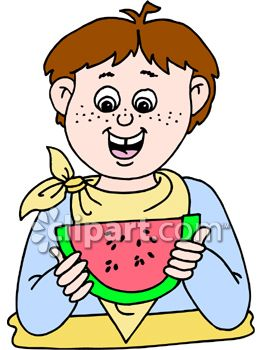 263x350 A Child Eating Watermelon