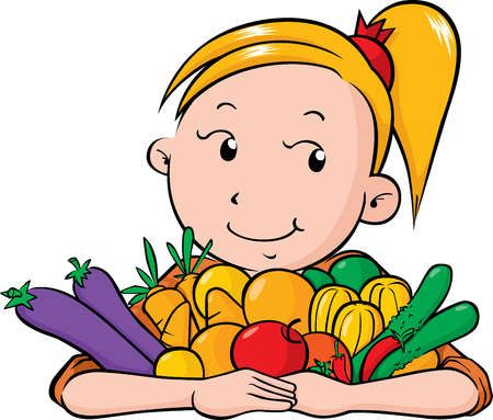 450x383 Child Eating Vegetables Clipart