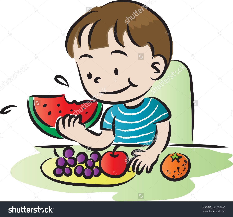 1500x1395 Art Eating Fruit Clipart