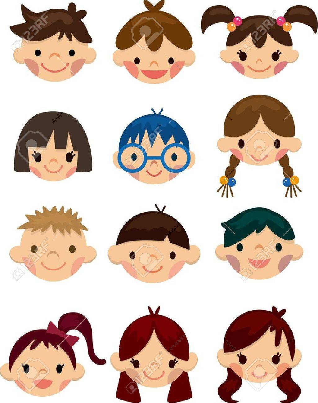 1025x1300 Cartoon Child Face Icon Royalty Free Cliparts, Vectors, And Stock