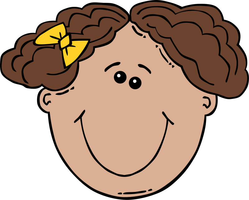 800x643 Short Hair Clipart Child Face
