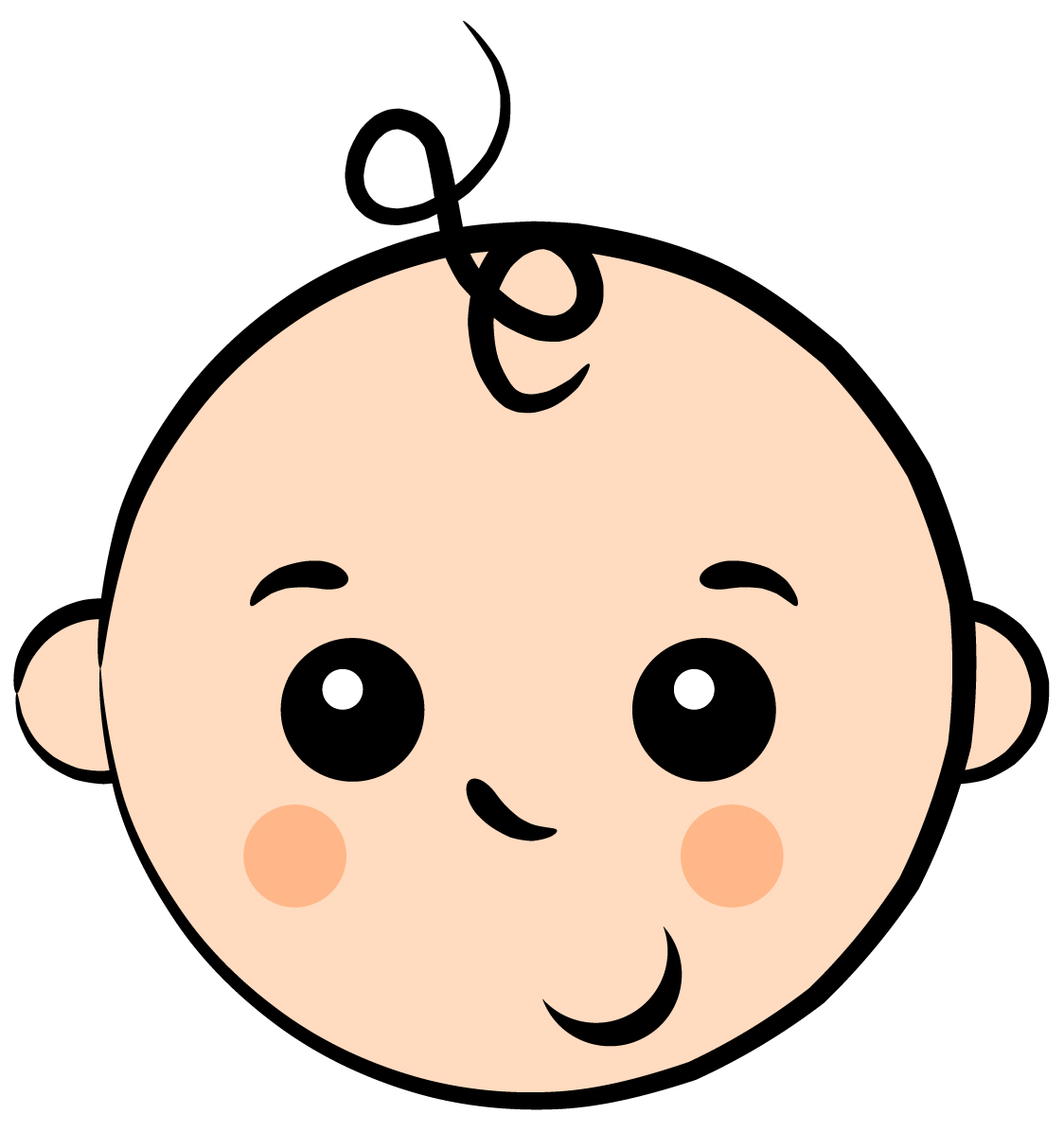 1124x1196 Baby Clipart Face