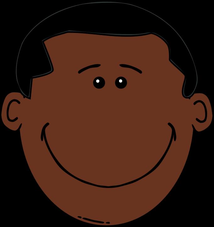 681x723 Black Boy Clipart