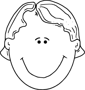 282x299 Boyface Outline Clip Art
