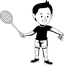 206x210 Free Black And White Sports Outline Clipart