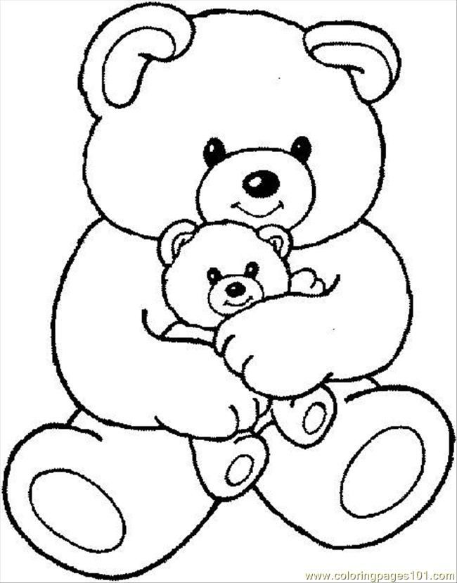650x828 Teddy Bear Outline Coloring Home Clip Art