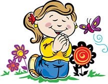 216x168 Child Praying Clipart