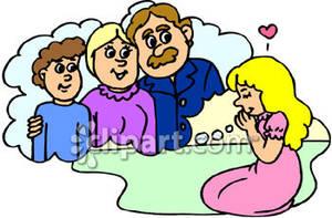 300x197 Family Prayer Clip Art Cliparts