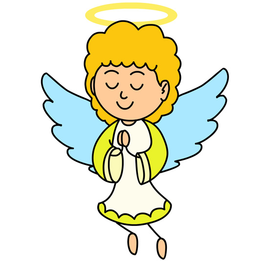 550x535 Angel Clipart Prayer Background