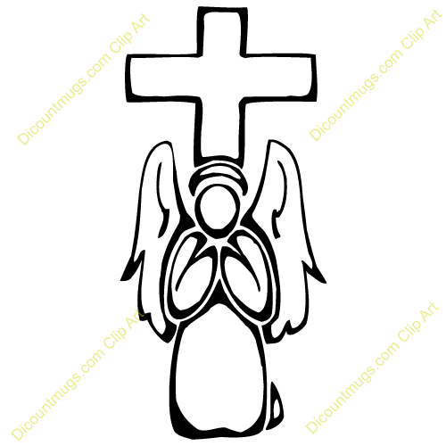 500x500 Angel Clipart Cross