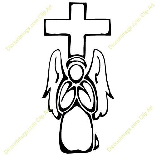 500x500 Angel Clipart Cross