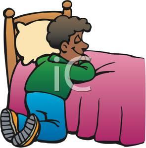 295x300 Boy Saying Bed Time Prayers