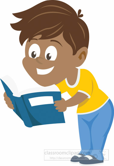 378x550 Child Reading Newspaper Clipart
