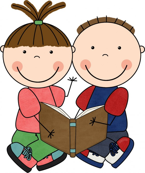 600x715 Free Clip Art Children Reading Books Clipart Panda