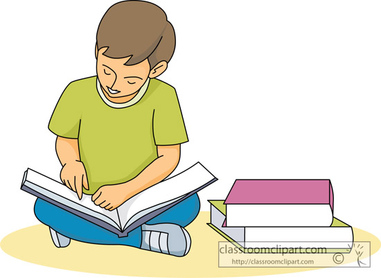 550x401 Student Reading Clipart