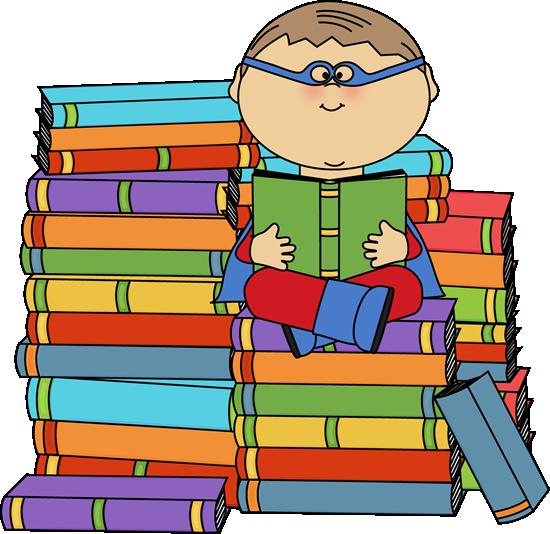 550x534 Super Hero Reading Boy Superhero Bookworm Clip Art Image