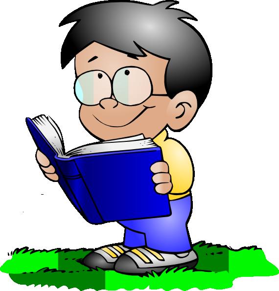 570x595 Boy Reading Clip Art