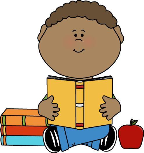 494x525 Boy Reading Clipart