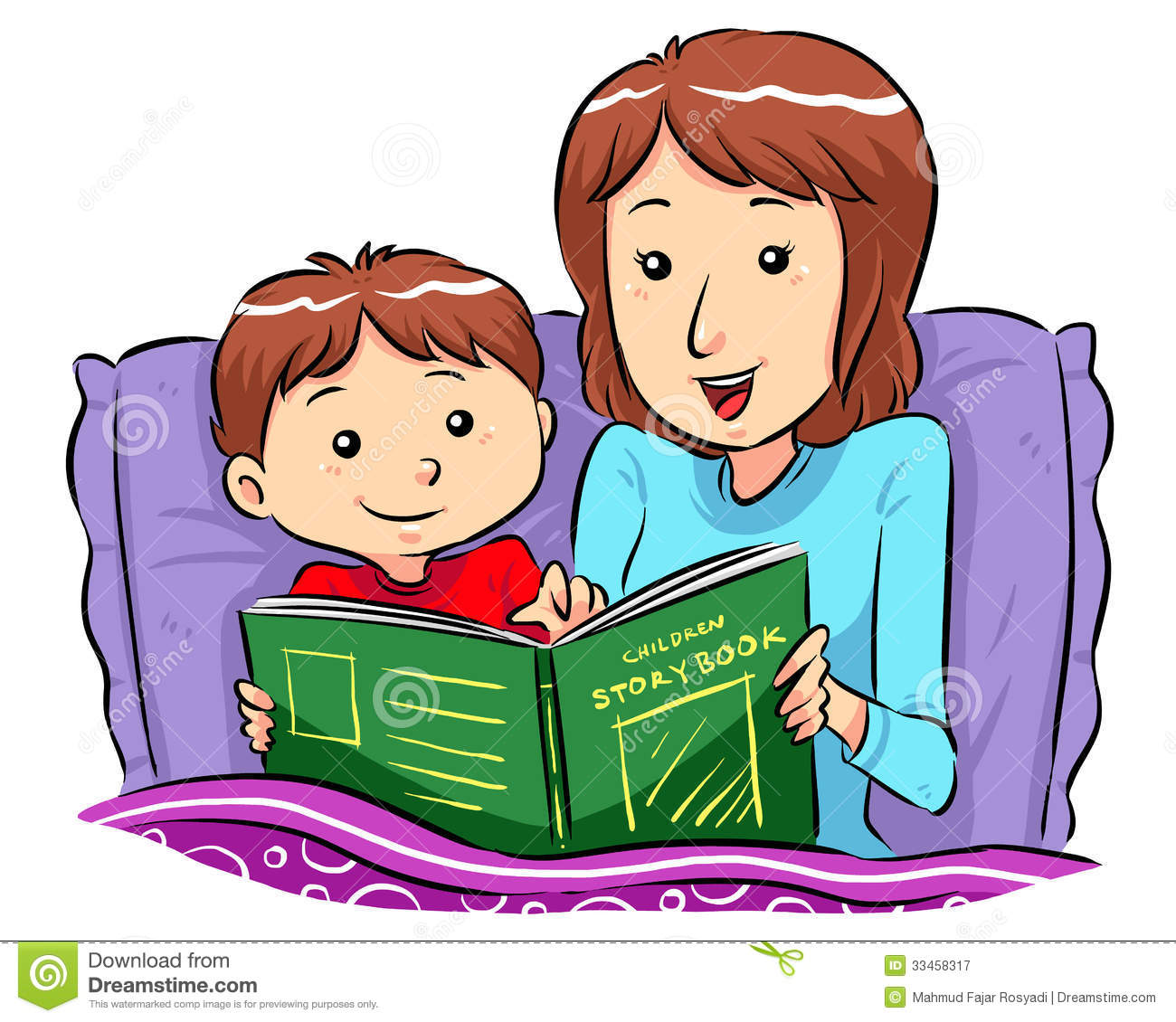 Child reading cartoon clipart free download best child for Bed stories online