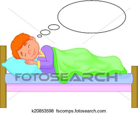450x374 Clip Art Of Cartoon Boy Sleeping K20853598