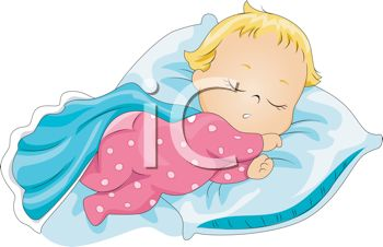 350x226 Image Of A Baby Sleeping Peacefully In A Vector Clip Art