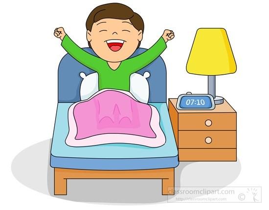 550x430 Morning Clipart Kid Sleep