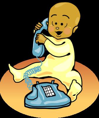 337x400 Image Baby On Phone Baby Clip Art