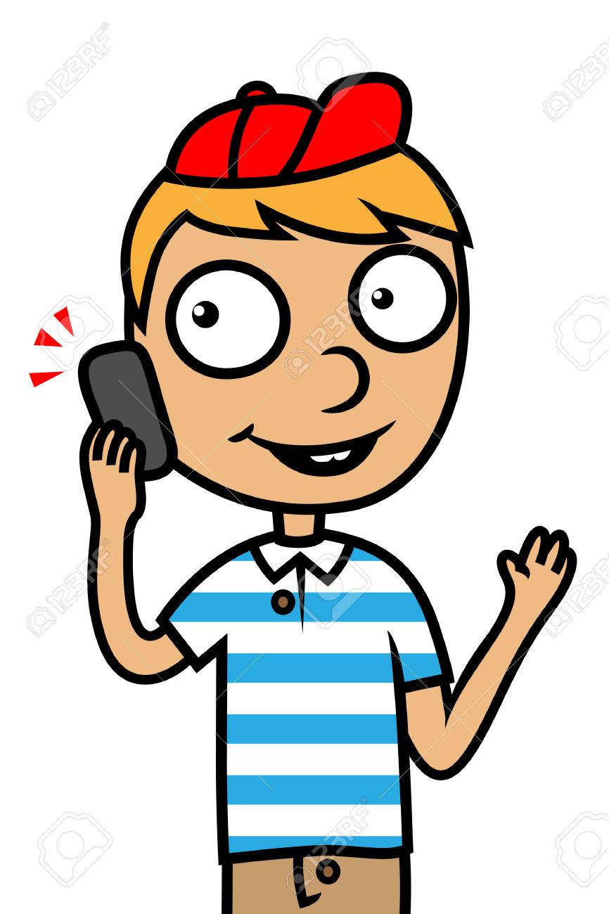 866x1300 Phone Boy Clipart, Explore Pictures