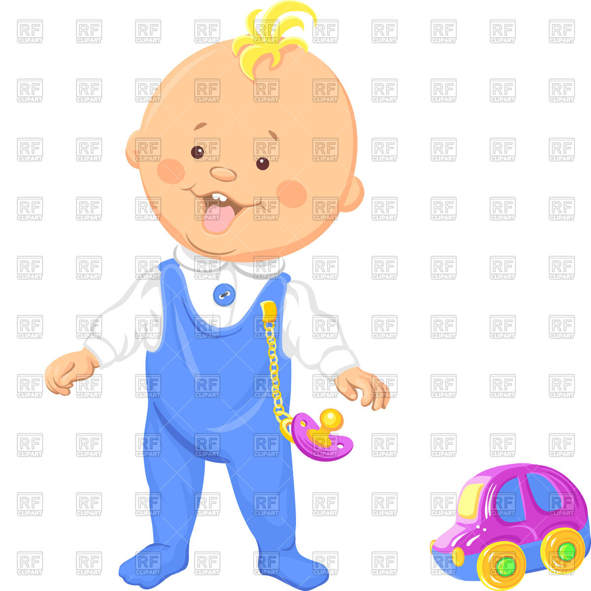 1200x1200 Cute Baby Boy With Toy Car Royalty Free Vector Clip Art Image
