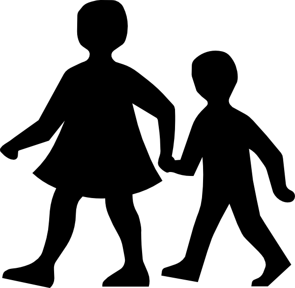600x586 Parent And Son Walking Clip Art