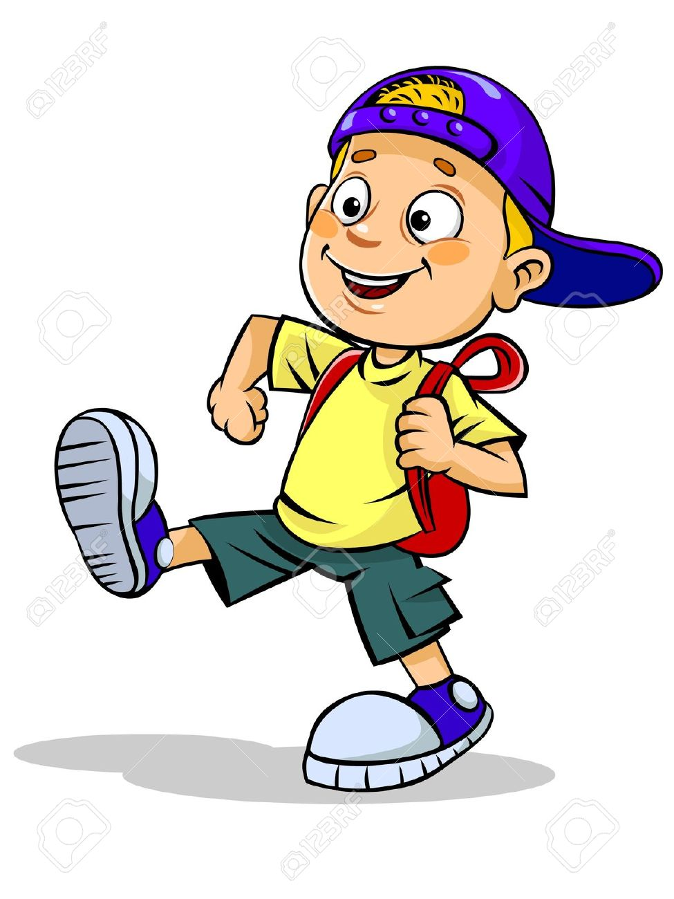 975x1300 Boy Walking To Store Clipart